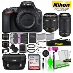 Cámara Digital Nikon Combo D5600 24.2MP DSLR 18-55mm and 70- (Importación USA)