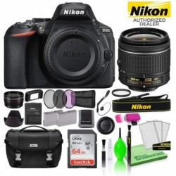 Cámara Digital Nikon Combo D5600 24.2MP DSLR AF-P DX 18-55mm (Importación USA)