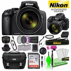 Cámara Digital Nikon Combo COOLPIX P900 16MP 83x Optical Zoo (Importación USA)