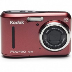 Cámara Digital Kodak PIXPRO Friendly Zoom FZ43-RD 16MP 4X Op (Importación USA)