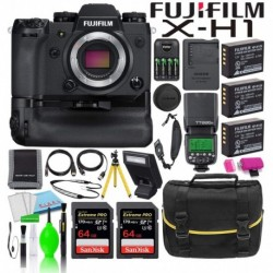 Cámara Digital Fujifilm Combo X-H1 Mirrorless Battery Gr 1 (Importación USA)