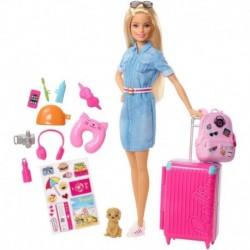 Barbie Vamos De Viaje Con Accesorios Viajera Mattel Fwv25 (Entrega Inmediata)