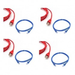 Patch Cord Powest Cat 6a 2 Mtrs 2 M Rojo Azul