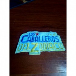 Saint Seiya Caballeros Del Zodiaco Parche Bordado Logo Letra (Entrega Inmediata)