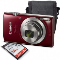 Camara Canon PowerShot ELPH 180 Digital Camera Red 1