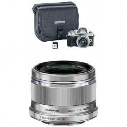 Camara Olympus OM-D E-M10 Mark III Camera Kit wit 3 (Importación USA)