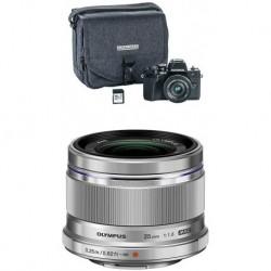 Camara Olympus OM-D E-M10 Mark III Camera Kit wit 4 (Importación USA)