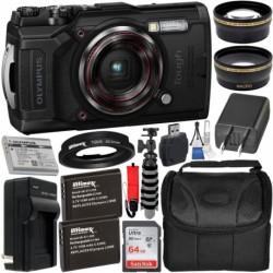 Camara Olympus Tough TG-6 Digital Camera Delux (Importación USA)