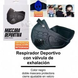 Tapabocas Deportivo Con Doble Válvula De Exhalación (Entrega Inmediata)