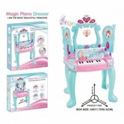 Tocador Piano Para Niña Luces Y Sonido Mas Accesorios (Entrega Inmediata)